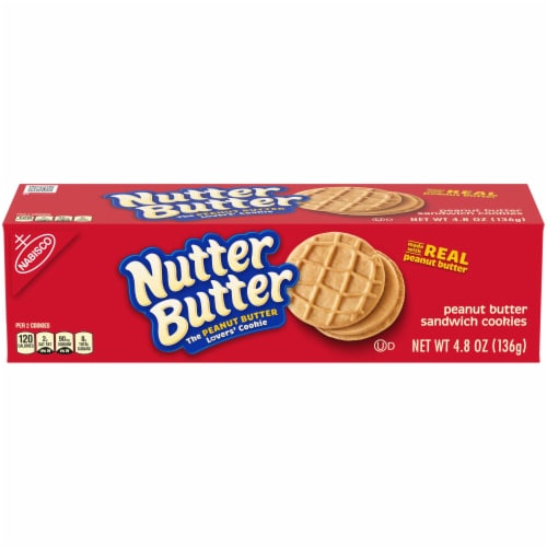 Nabisco Nutter Butter Peanut Butter Sandwich Cookie, 4.8 Ounce -- 12 per case. Perspective: front