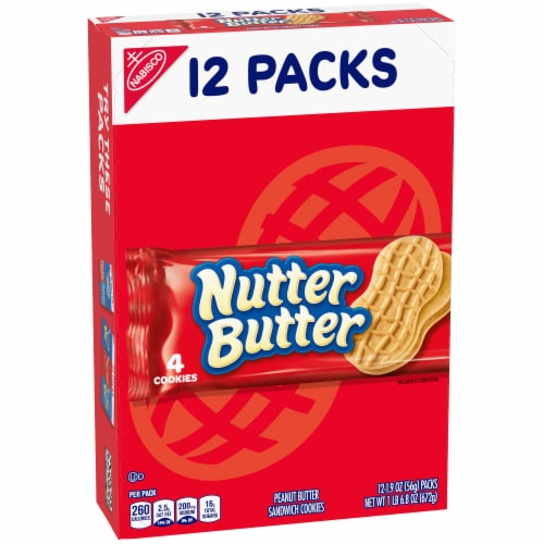 Snack Nutter Butter 4/12Ct 48 Case 1.9 Ounce Perspective: front