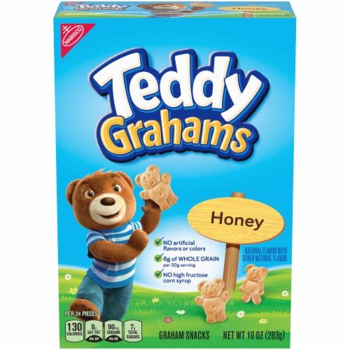 Teddy Grahams Honey Graham Cookies Perspective: front