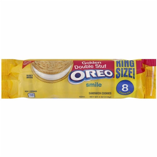 Oreo Golden Double Stuf Cookies, 4 Ounce -- 20 per case. Perspective: front