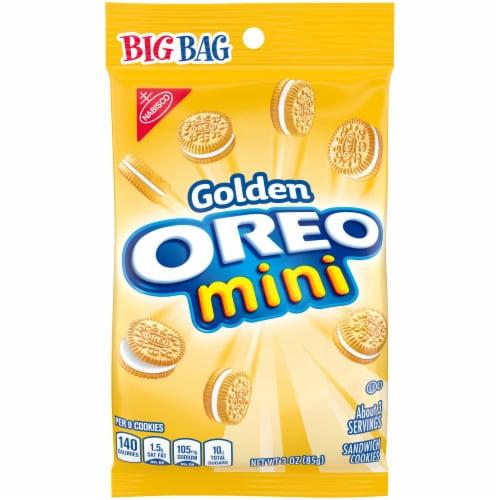 Oreo Nabisco Golden Mini Sandwich Cookies, 3 Ounce -- 12 per case. Perspective: front