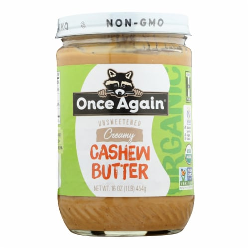 Once Again - Cashew Butter - Case of 6-16 OZ Perspective: front