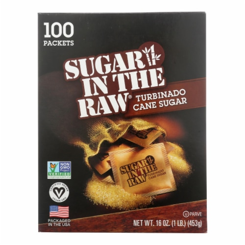 Sugar in The Raw Sugar in The Raw - Packets - Case of 8 - 100 PK Perspective: front