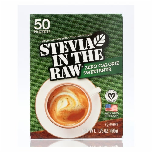 Stevia In The Raw Sweetener - Packets - Case of 12 - 50 Count Perspective: front