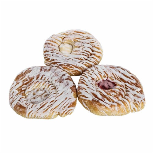 Pennant Apple Cheese Raspberry Danish, 2.75 Ounce -- 24 per case. Perspective: front