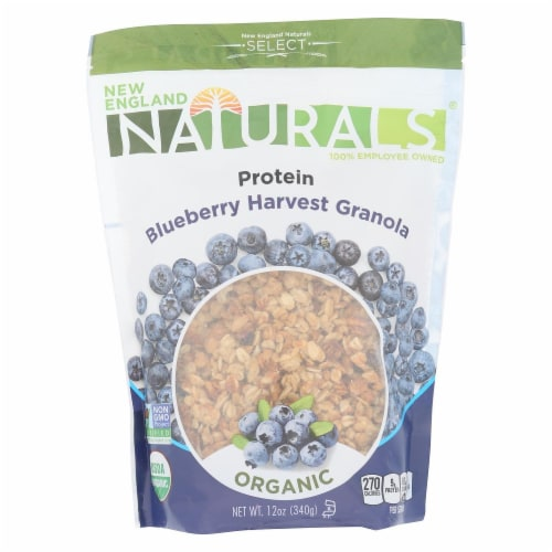 New England Naturals High Protein Blueberry Harvest Organic Granola, 12 OZ (Pack of 6) Perspective: front