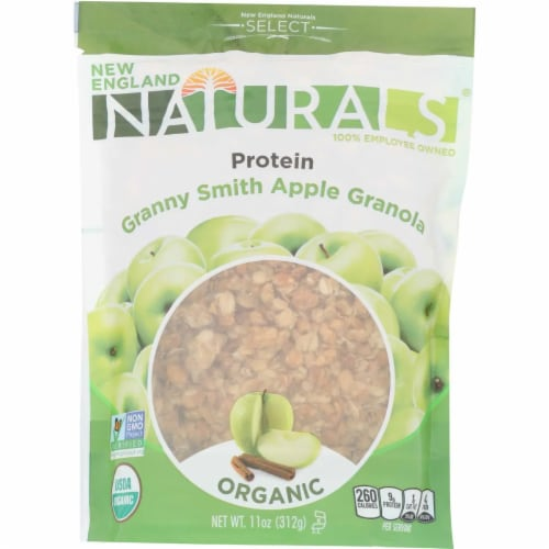 New England Naturals Organic Granny Smith Apple Granola, 11oz (Pack of 6) Perspective: front