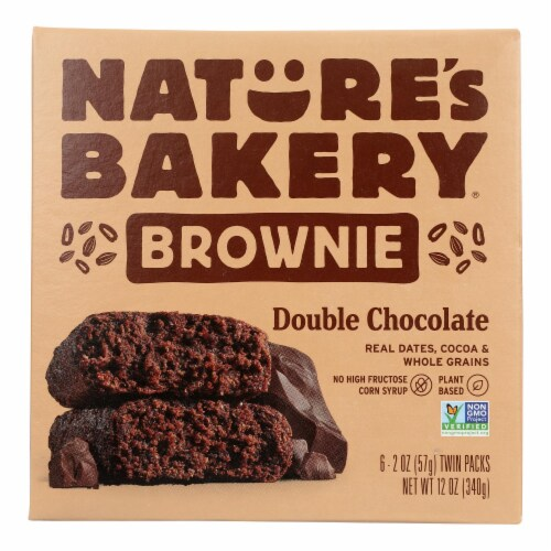 Nature's Bakery Stone Ground Whole Wheat - Double Chocolate Brownie - Case of 6 - 12 oz. Perspective: front