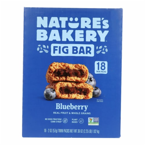 Nature's Bakery Stone Ground Whole Wheat Blueberry Fig Bars  - Case of 6 - 18/2 OZ Perspective: front