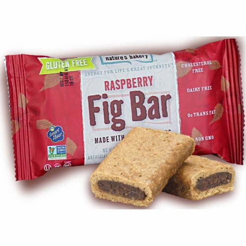 Natures Bakery Gluten Free Raspberry Fig Bar -- 84 per case. Perspective: front