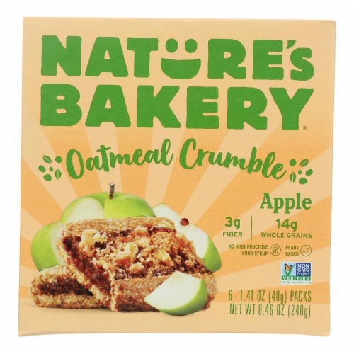 Nature's Bakery - Oatmeal Crumble Apple - Case of 6 - 8.46 OZ Perspective: front