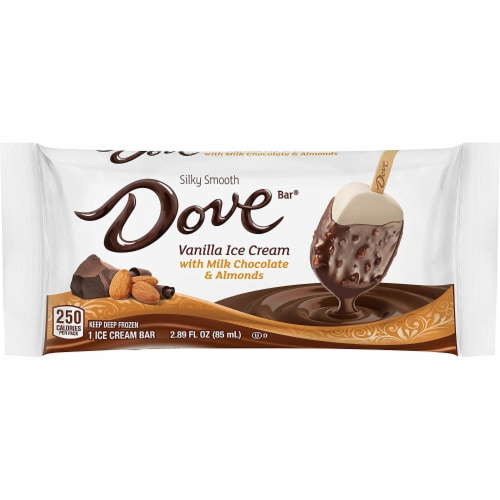 Dovebar Singles - Almond/Milk Chocolate (12 Count) Perspective: front
