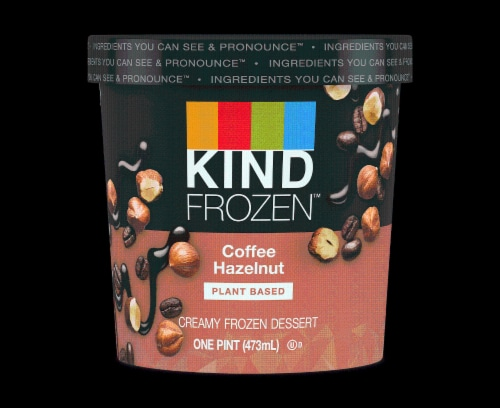KIND Frozen, Coffee Hazelnut Pint (8 Count) Perspective: front