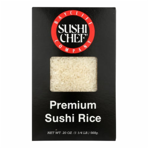 Sushi Chef Premium Sushi Rice - Case of 6 - 20 oz. Perspective: front