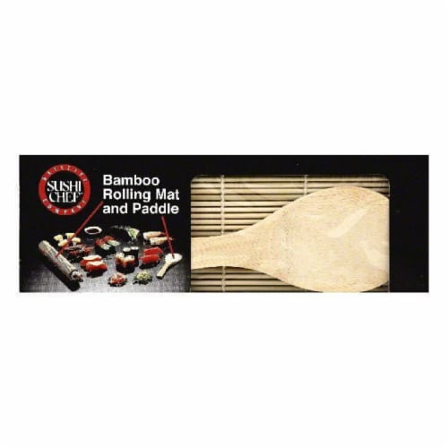 Sushi Chef Bamboo Rolling Mat and Paddle, 1 ea (Pack of 6) Perspective: front
