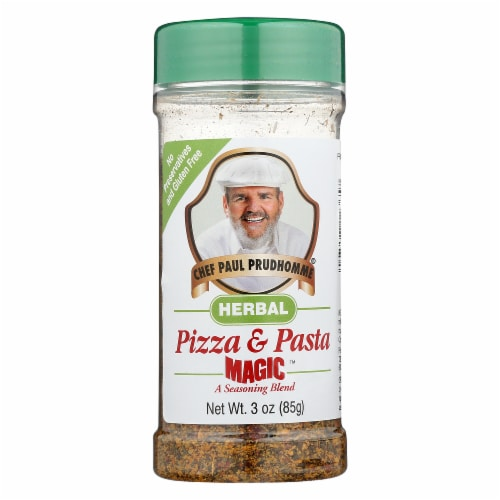 Chef Paul Prudhommes Herbal Pizza & Pasta Seasoning Blend, 3 OZ (Pack of 6) Perspective: front