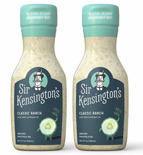 Sir Kensington's Keto & Paleo Classic Ranch Dairy-Free Dressing Sauce Dip Perspective: front