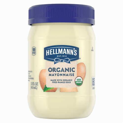 Hellman's Organic Mayonnaise  - Case of 6 - 15 FZ Perspective: front