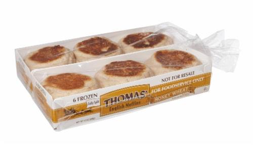 Maplehurst Bakery Thomas Honey Wheat English Muffin -- 72 per case. Perspective: front