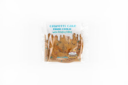 Rich's Confetti Cookie Filled with Confetti Cake Frosting, Soft Baked Cookie, 12 count Perspective: front