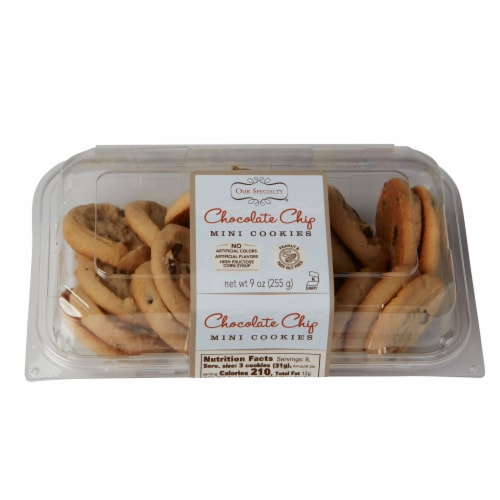 Our Specialty Mini Chocolate Chip Cookies, Fresh Baked Flavor, 9oz (Pack of 9) Perspective: front