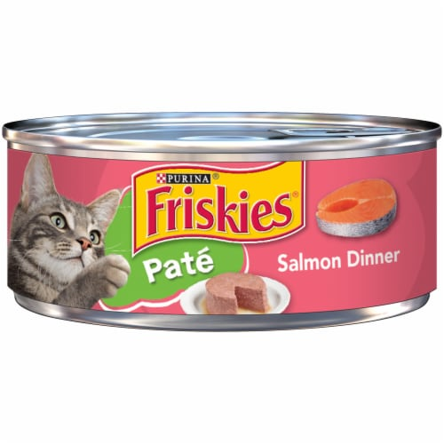 Friskies Pate Salmon Dinner Wet Cat Food Perspective: front