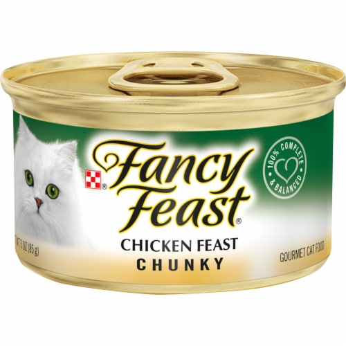 Fancy Feast Chunky Chicken Feast Gourmet Cat Food Perspective: front