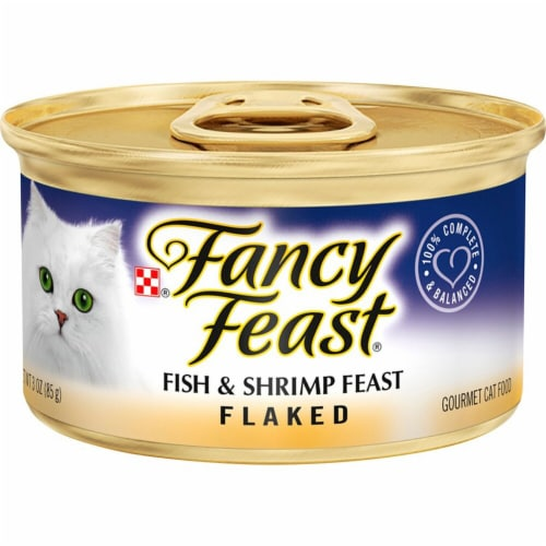 Fancy Feast Flaked Fish & Shrimp Wet Cat Food Perspective: front