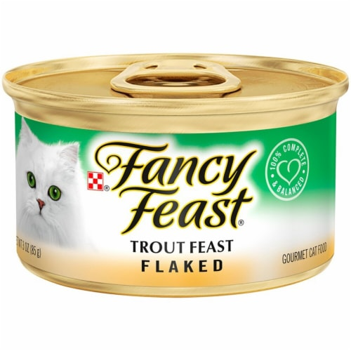 Fancy Feast Flaked Trout Wet Cat Food Perspective: front