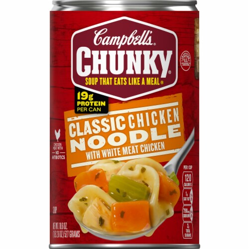 Campbell's Chunky Classic Chicken Noodle Soup Case Sale Perspective: front