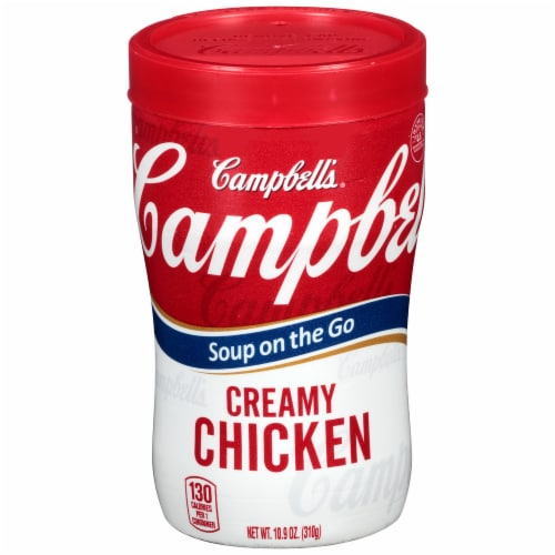Campbell's Soup On The Go Creamy Chicken Soup Perspective: front