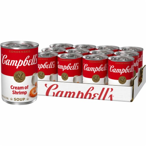 Campbell's Cream of Shrimp Condensed Soup Case Perspective: front