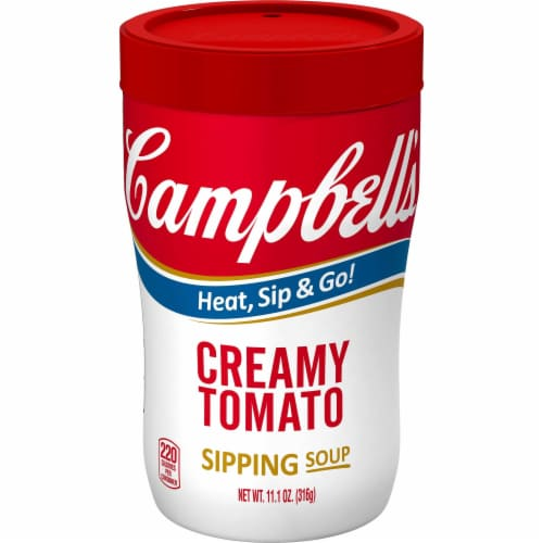 Campbell's Soup at Hand, Creamy Tomato, 11.1 Oz. Microwavable Cup (8 Count) Perspective: front