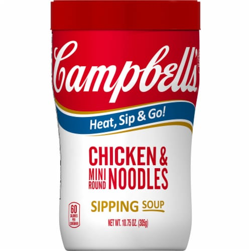 Campbell's Chicken & Mini Round Noodles Soup 8 Count Perspective: front