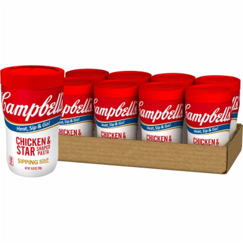 Campbell's Soup On The Go Chicken & Star Shaped Pasta Soup Perspective: front