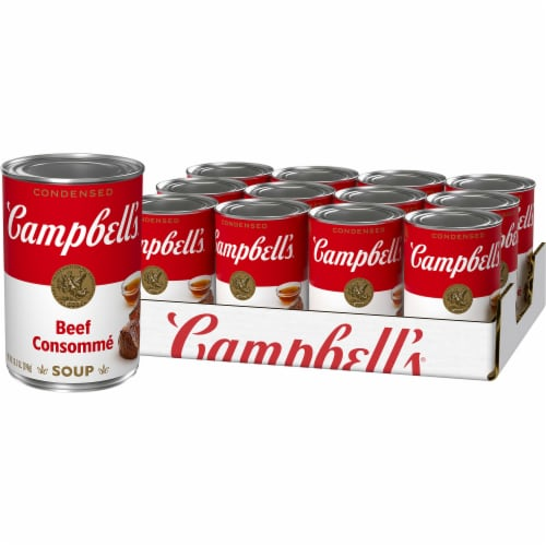 Campbell's Beef Consomme Condensed Soup Perspective: front
