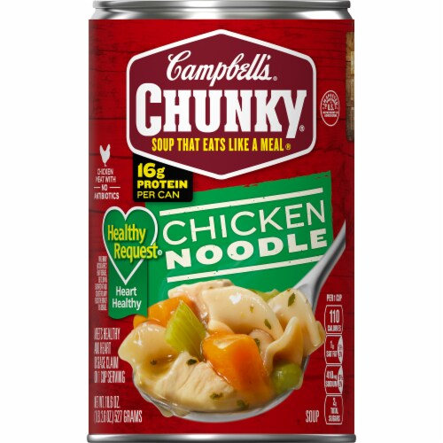 Campbell's Chunky Healthy Request Chicken Noodle Soup Case Sale Perspective: front
