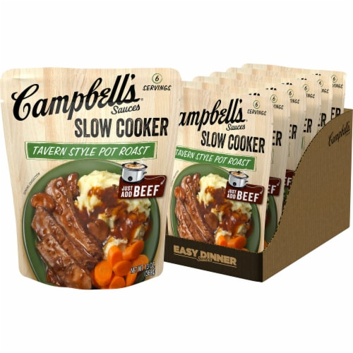Campbell's Tavern Style Pot Roast Slow Cooker Sauce Perspective: front