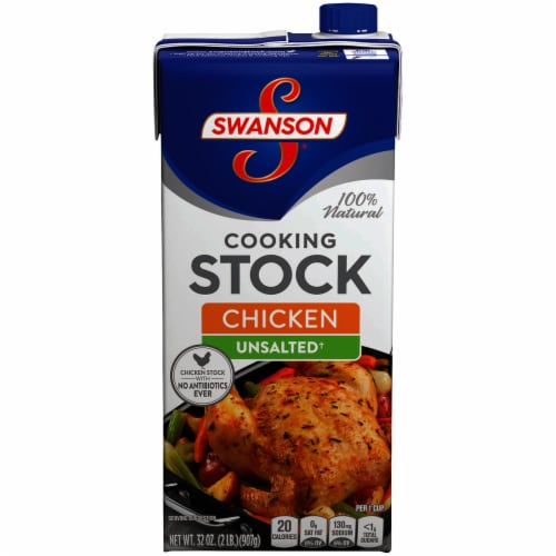 Swanson Unsalted Chicken Broth Case Perspective: front
