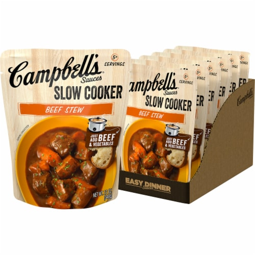 Campbell's Beef Stew Slow Cooker Sauce Case Perspective: front