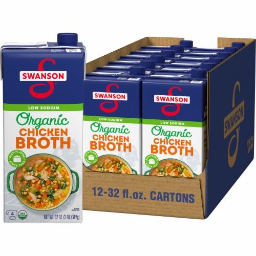 Swanson Organic Free-Range Chicken Broth Perspective: front