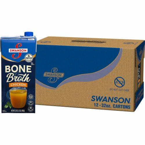 Swanson Chicken Bone Broth Case Perspective: front