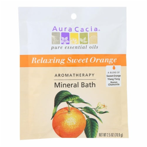 Aura Cacia - Aromatherapy Mineral Bath Relaxing Sweet Orange - 2.5 oz - Case of 6 Perspective: front