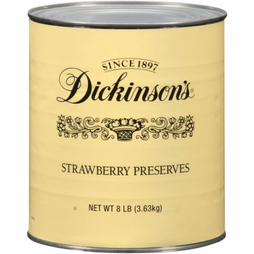 Dickinson Fancy Strawberry Preserves, 8.25 Pound -- 6 per case. Perspective: front