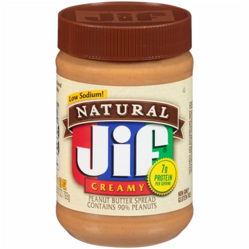 Jif Natural Creamy Peanut Butter Perspective: front