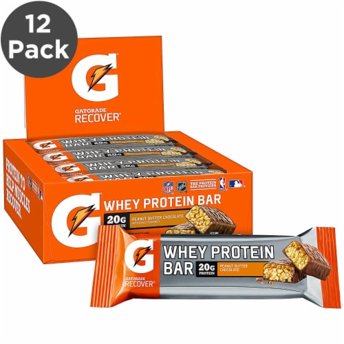 Gatorade Chocolate Peanut Butter Whey Protein Bars Perspective: front