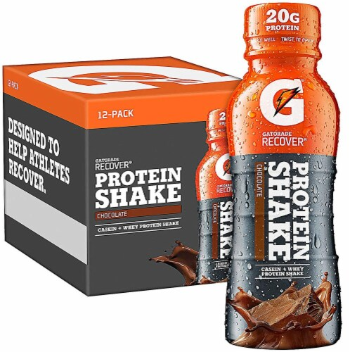 Gatorade Recover Chocolate Protein Shake Perspective: front