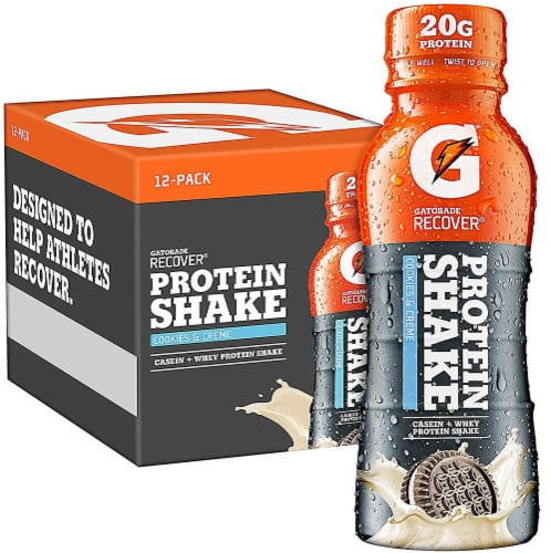 Gatorade Recover Cookies & Creme Protein Shake Perspective: front