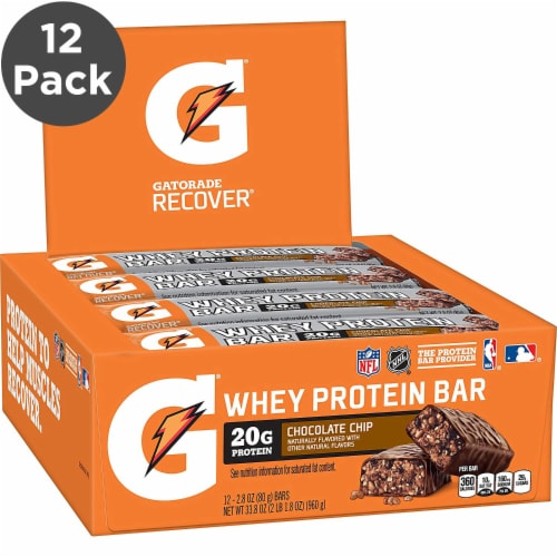 Gatorade Chocolate Chip Whey Protein Bar Perspective: front