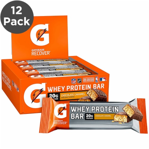 Gatorade Carmel Whey Protein Bar Perspective: front